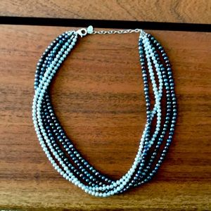N1721.Retired Silpada 5 strand necklace.925 silver